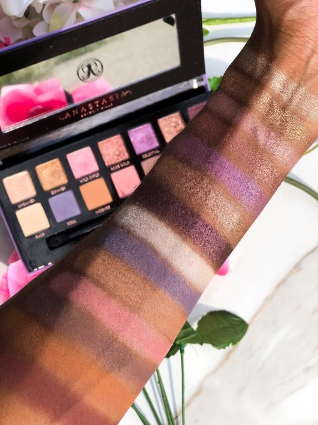 Anastasia Beverly Hills Norvina Eyeshadow Palette Swatches Review on Dark Skin