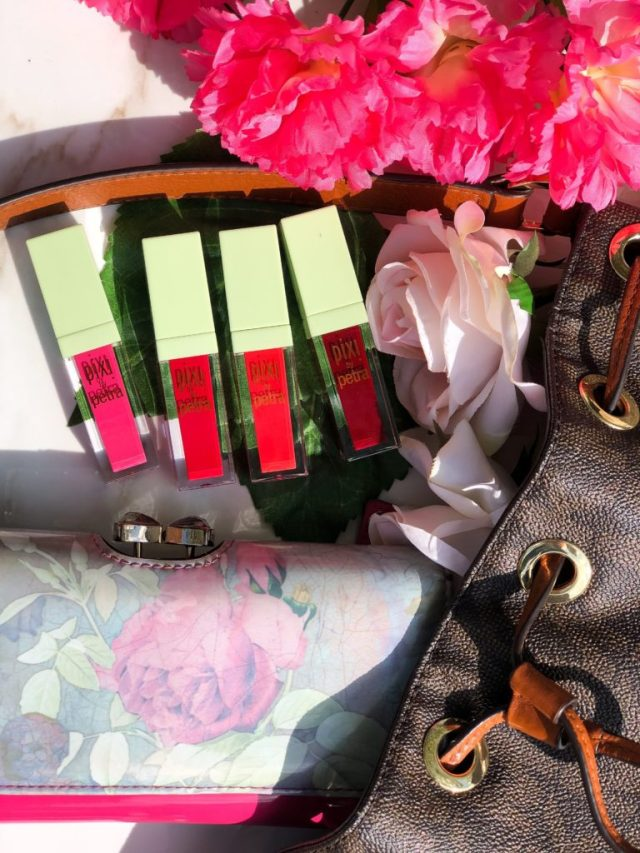 Pixi MatteLast Liquid Lip Color Review Swatches on Dark Skin: Au Naturelle, Bare Beauty, Matte Beige, Pastel Petal, Really Rose, Evening Rose, Peony Pink, Prettiest Pink, Orange Red, Really Red, Berry Boost