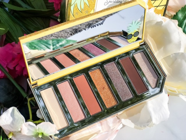 Too Faced Tutti Frutti Sparkling Pineapple Palette Swatches on Dark Skin
