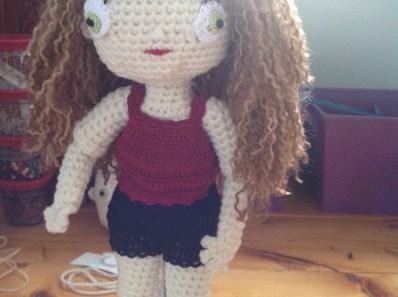 a crochet doll