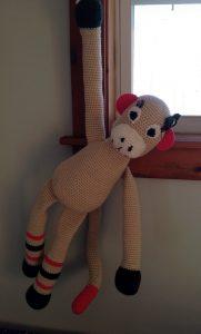 hanging crochet monkey