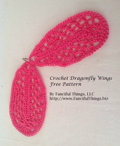 small crochet dragonfly wings