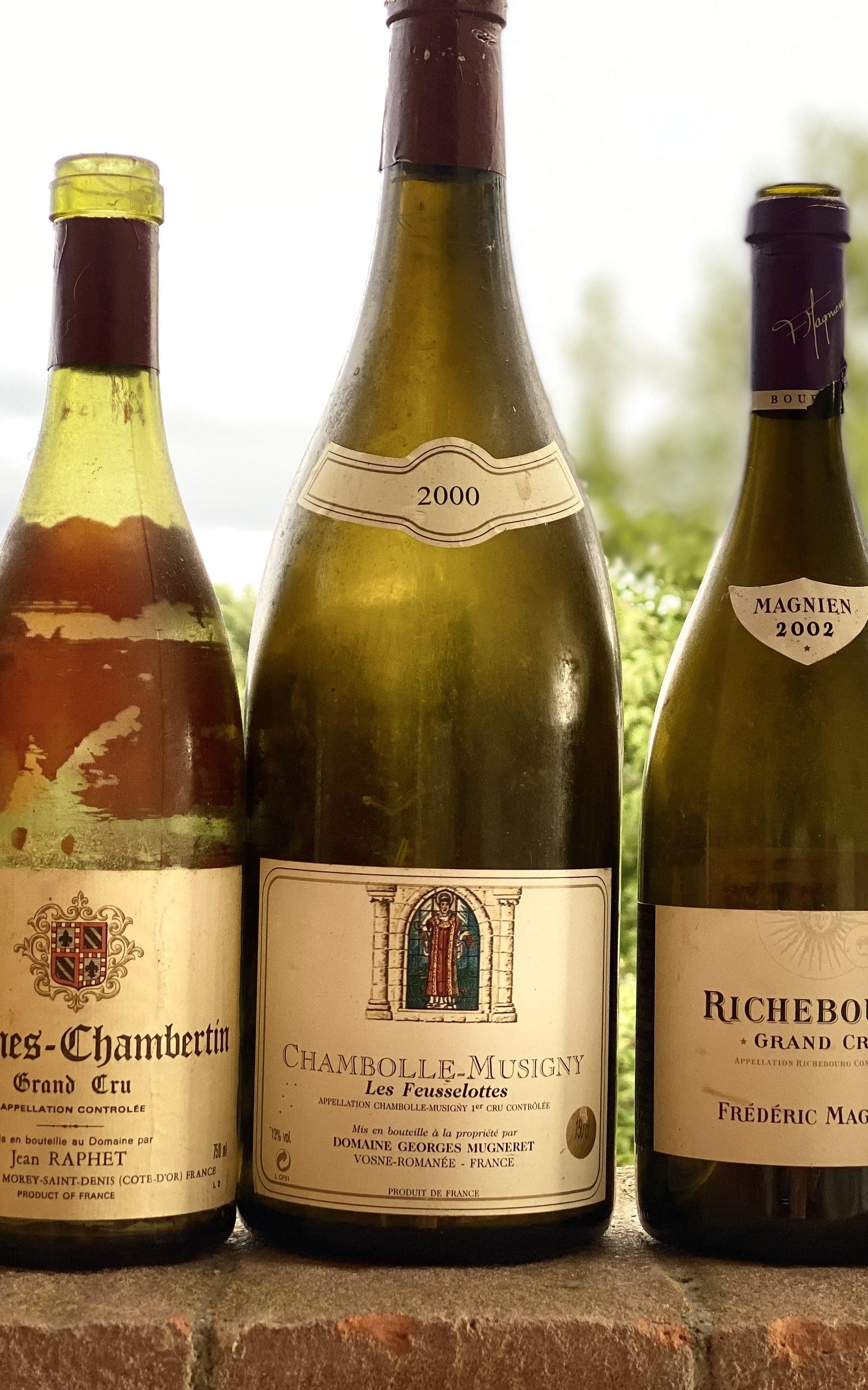 Bottles of Burgundy wine