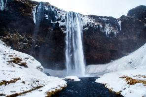 ice cold waterfall