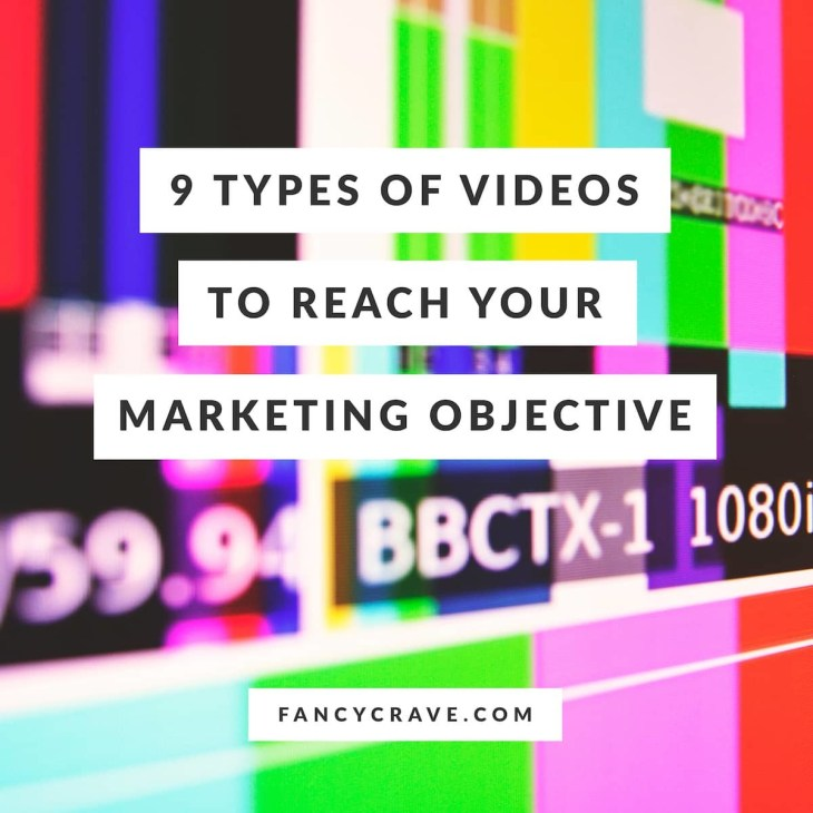 9 Types of Videos to Reach Your Marketing Objective
