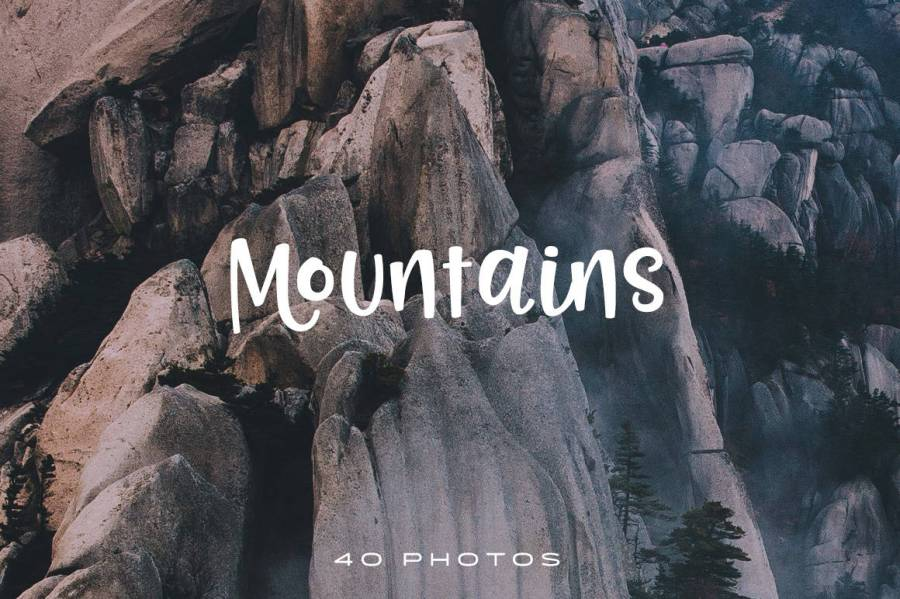 This collection contains 40 beautiful photographs of mountains from around the world. All images are at least 5000px and were processed in Lightroom.