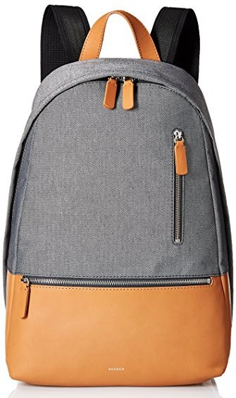 Skagen-Kroyer-Recycled-Twill-and-Leather-Backpack