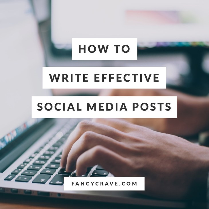 How to write effective social media posts