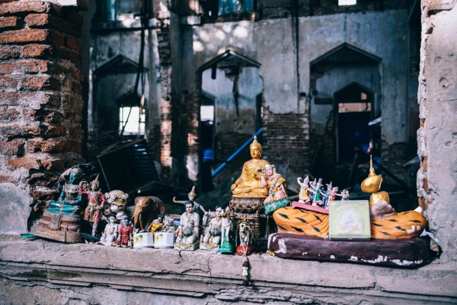 Buddhist-Statues-inside-an-Abandoned-Building