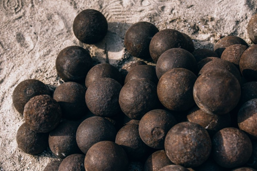 Stacked-Canon-Balls-Ready-for-Firing.