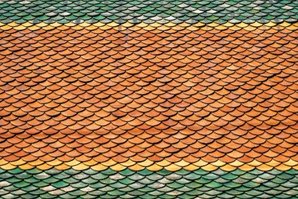 Thai-Roof-Pattern-with-Green-Yellow-and-Orange-Colors