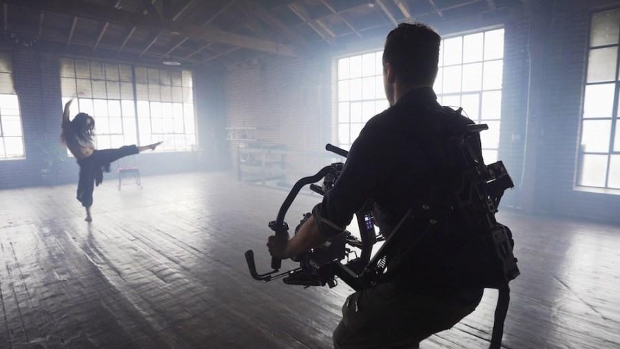 Videographer-recording-a-dancer