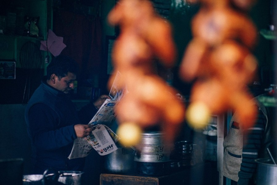 Indian-Man-Reading-a-Newspaper