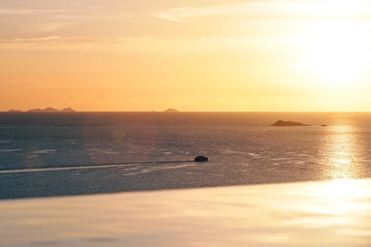 Infinity-Pool-Overlooking-the-Sea-during-Sunset
