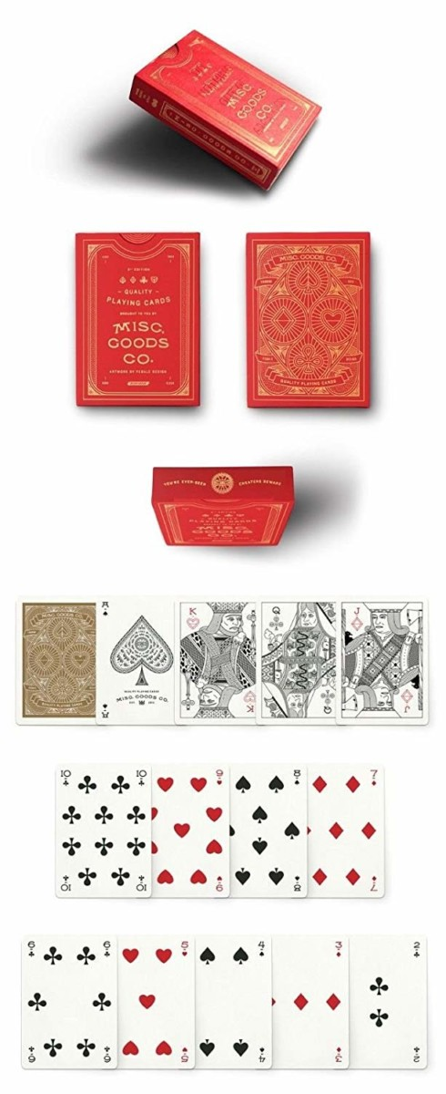 Red-Misc-Playing-Cards-Deck-Printed-By-Uspcc