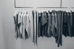 Black-and-White-Photography-of-a-Clothing-Rack