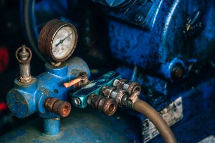 Blue-Metal-Air-Tank-Gauge