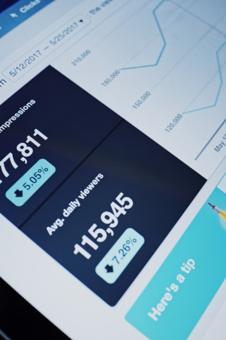 Close up Shot of Pinterest Analytics