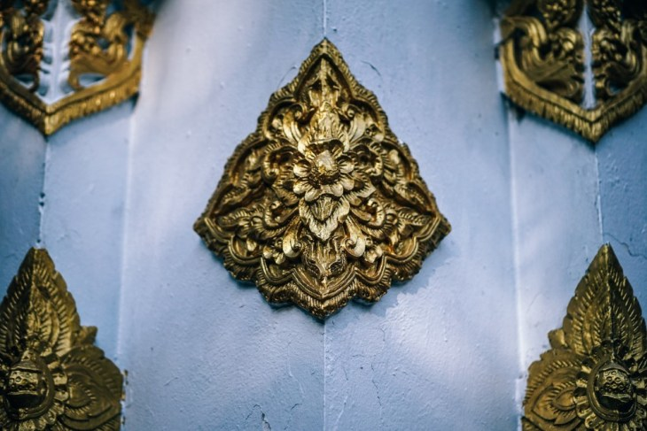 Golden-Wall-Decorations-at-the-Doi-Suthep-Temple