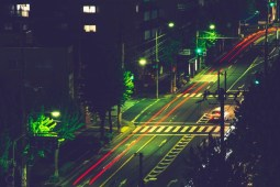 Long-Exposure-Photography-of-a-Street-in-Kyoto-at-Night