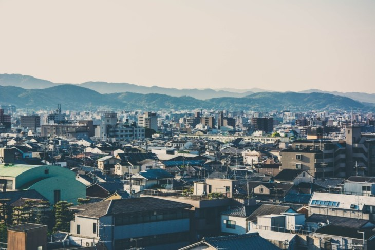 Morning-Cityscape-of-Kyoto-Japan