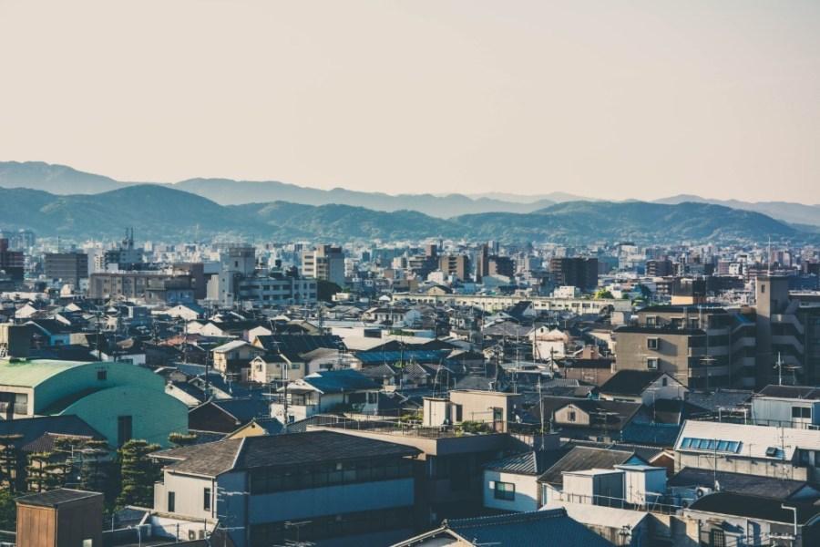 Morning-Cityscape-of-Kyoto-Japan