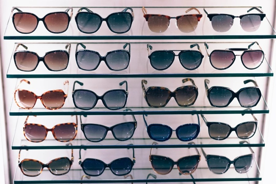 Sunglasses-Display-Stand-inside-a-Shopping-Mall-in-Bangkok
