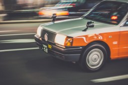 Taxi-in-Motion-on-the-Streets-of-Kyoto