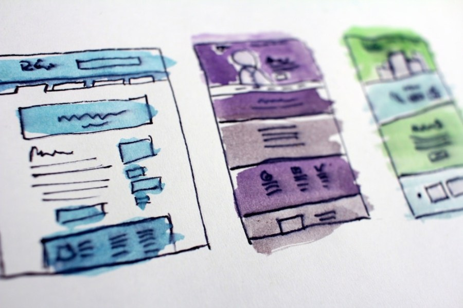 Watercolored-wireframe-mockup-sketch