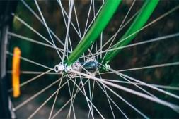 Close-up-Shot-of-a-Bike-Wheel