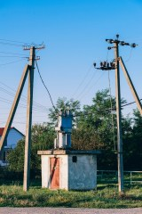 Power-Transformer-between-Two-Electricity-Polls