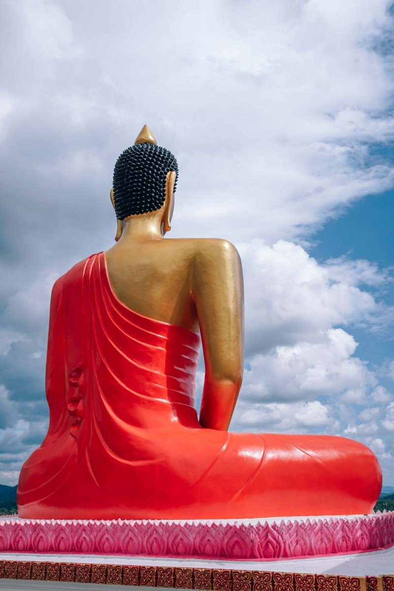 The-Back-of-a-Buddha-Statue