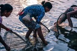 Three-Women-Fishing-at-Dusk