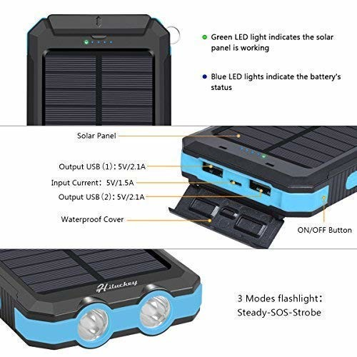 Hiluckey-10-000-mAh-Solar-Charger-5