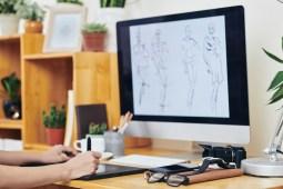 graphic designer drawing fashion illustration TMNXQ