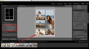 add photos to the template to make a collage in lightroom
