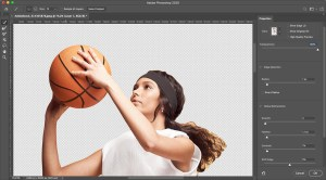 how to add a background to a photo refine edges