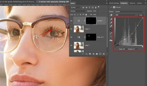remove glare from photo glasses curves