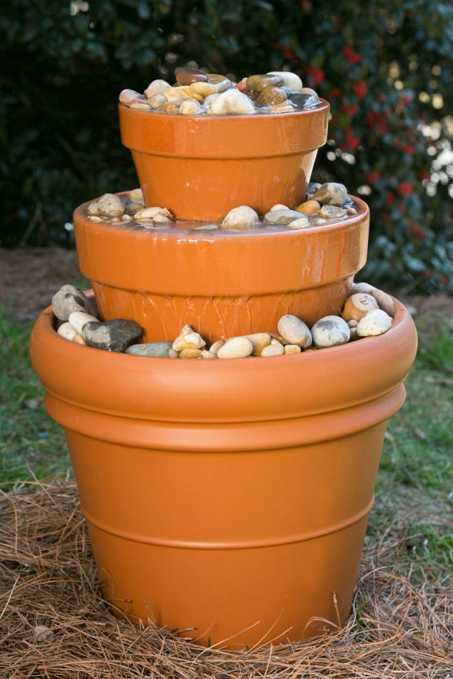 How to Turn Broken Flower Pots Into Incredible Water Fountain