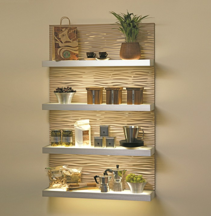 Impeccable Shelves Lighting Designs