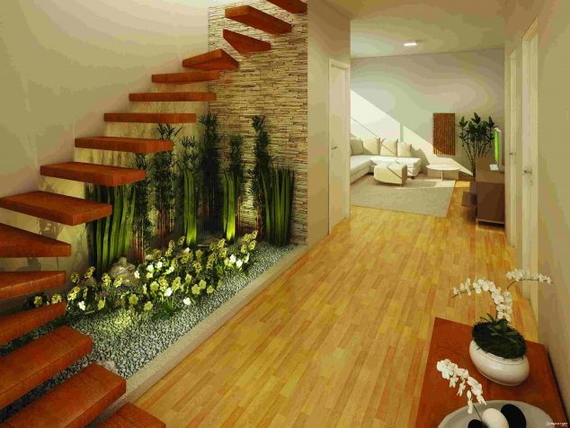 Small Under the Stairs Garden