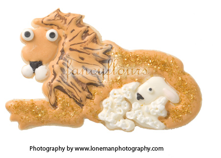 Lion and Lamb Hammer Song Cookie Cutter