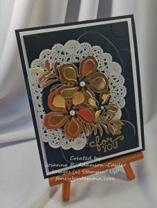 Black White Gold Blooms-3