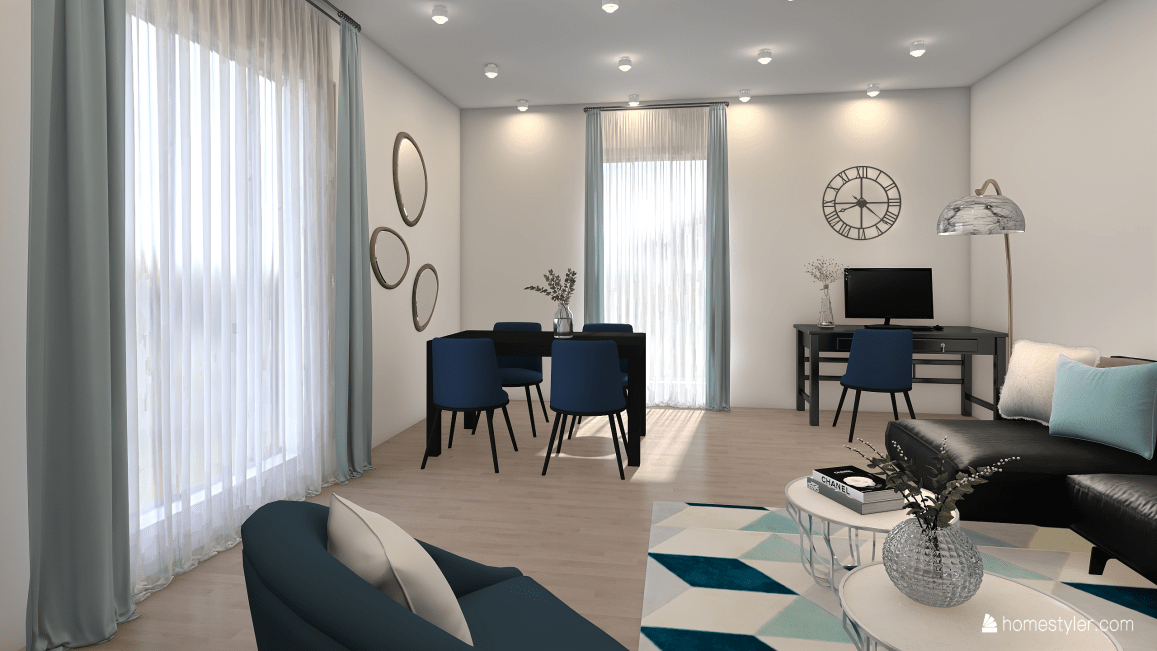 Blue tones-Living and Dining Room-58