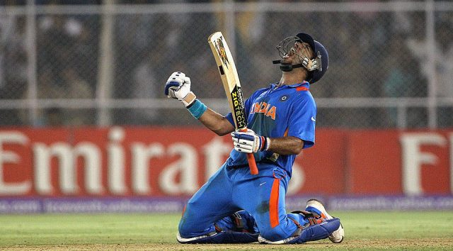 Yuvraj Singh while playing cricket during his career in Yuvraj Singh Biography