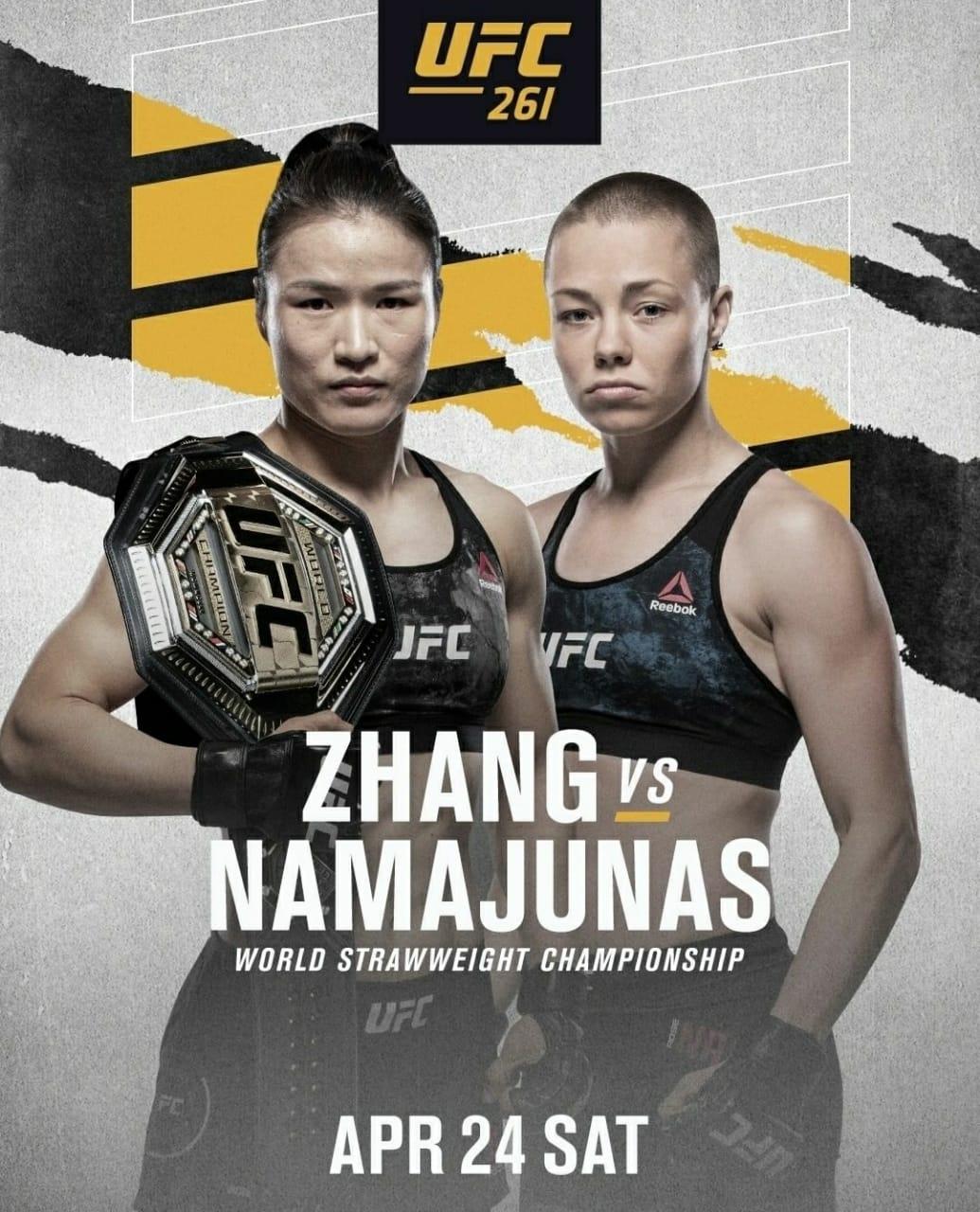 UFC 261 Zhang vs Namajunas   Ultimate Fighting Championship Zhang vs Namajunas