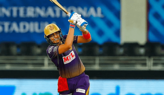 Shubhman Gill playing in IPL 2020