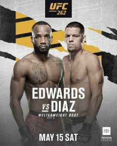 UFC 262 Edwards vs Diaz | Ultimate Fighting Championship Edwards vs Diaz