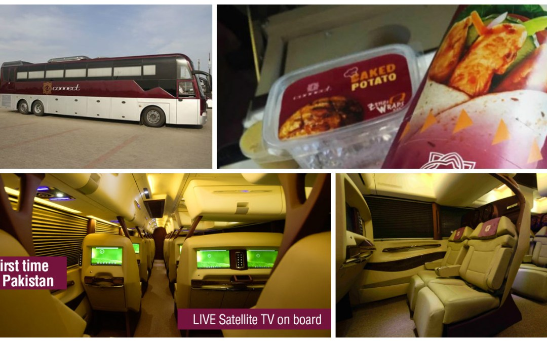 QConnect First-Ever Luxury Bus in Pakistan