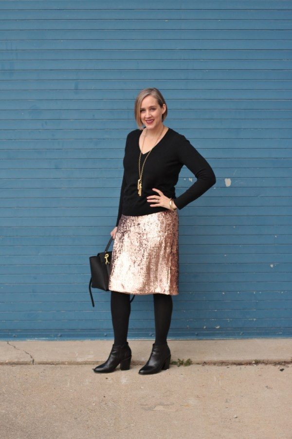 over 40 holiday party look, style blogger